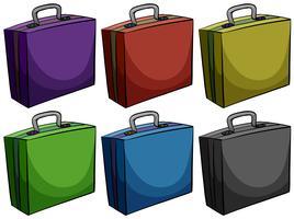 Aktetassen in zes kleuren