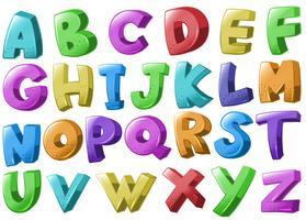 Lettertypeontwerp met Engelse alfabetten