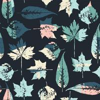 Abstract naadloos patroon met bladeren.