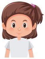 Een brunette kort haar karakter vector