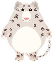 Luipaard met blij gezicht vector