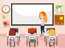 Student in computerklasse vector