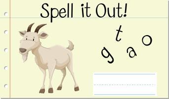 Spell Engels woord geit