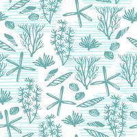Trendy zee naadloze patroon met hand textuur. vector