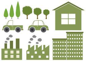 Logo ontwerp met milieuthema vector