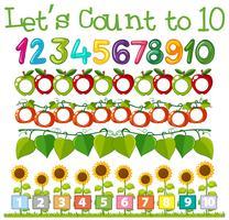 math aantal tellen sjabloon