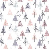Abstract geometrisch naadloos herhalingspatroon met Kerstmisbomen.