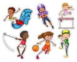 Mensen die verschillende soorten sporten doen