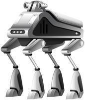 Een moderne robot op witte achtergrond