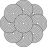zwart-wit hypnotische achtergrond. vectorillustratie. vector