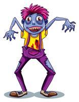 Een mannelijke zombie vector