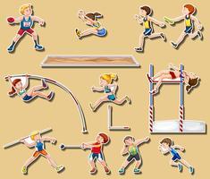 Stickerontwerp voor baan- en veldsporten