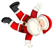 Break dancing santa clausule vector