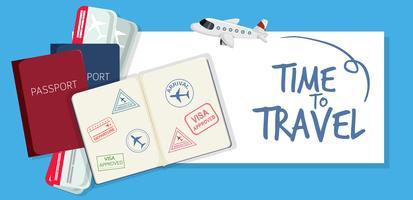 Een tijd om te reizen pictogram vector