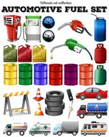 Ander vervoer en benzine vector