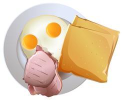Plaat met voedsel vector