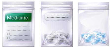 Een set medicijntas
