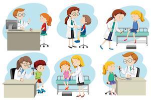 Een set van artsen medische zorg
