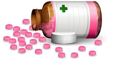 Een container met pil vector