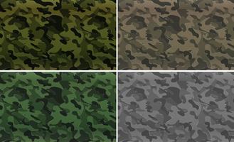 Camouflagepatroon met militair thema vector