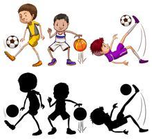 Set van atleten karakter