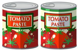 Tomatenpuree in aluminium blik vector