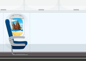 Een stoel in het vliegtuig vector