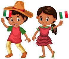 Jongen en meisje uit Mexico vector