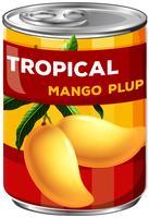 een blikje mango plup vector