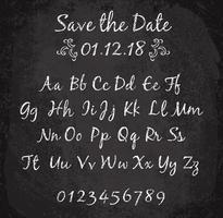 Vectorillustratie van chalked alfabet.