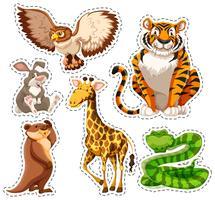 Sticker set van wilde dieren