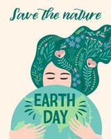 Dag van de Aarde. Vector illustratie.