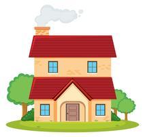 Een huis met twee verdiepingen vector