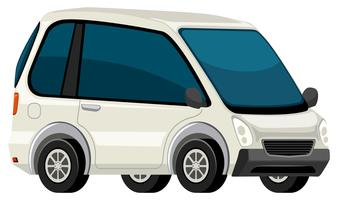 Een witte elektrische auto
