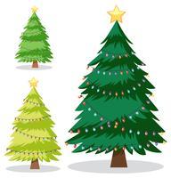 Een set kerstboom