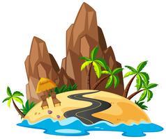 Een prachtig eilandlandschap