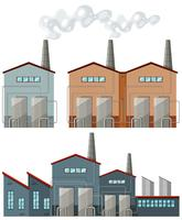 Fabrieksgebouwen met schoorstenen vector