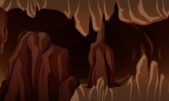 Een ondergrondse donkere grot vector