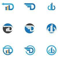 d en financieel logo en symboolsjabloon vectorpictogram vector