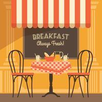 Vector moderne platte ontwerp illustratie van straat café.