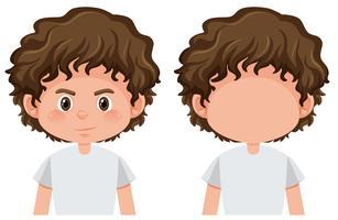 Set van brunette mannelijke karakter vector