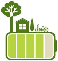 Groene batterij en aard
