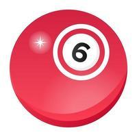 bingo bal spel vector