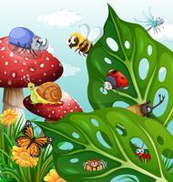 Insecten die in de tuin vliegen