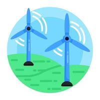 windturbines molens vector