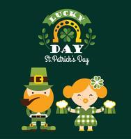 Saint Patrick's Day. Platte vectorillustratie