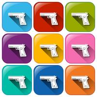 Gun pictogrammen vector