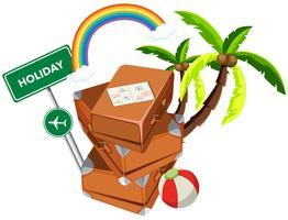 Koffer in vakantie pictogram