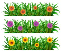Een bloementuin vector