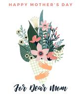 Gelukkige Moederdag. Vectormalplaatje met bloemen. vector